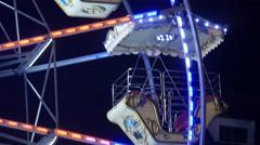 Ferris wheel gondolas at the Wonderlend at Mariahilferplatz in Graz Stock Footage