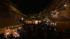 Taking pictures at the Christmas Market on Schlossberg hill, Graz Stock Footage