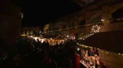"Relaxing at the ""Aufsteirern"" Christmas Market on Schlossberg hill, Graz Stock Footage"
