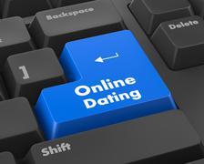 online dating - stock illustration