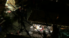 """Buying from the stalls at the """"Aufsteirern"""" Christmas Market, Graz Stock Footage"""