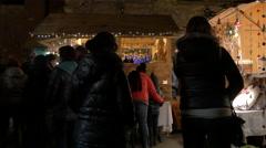 "Tourists admiring the stalls at the ""Aufsteirern"" Christmas Market, Graz Stock Footage"