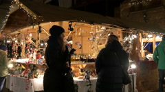 """Christmas decorations at the """"Aufsteirern"""" Market in Graz Stock Footage"""