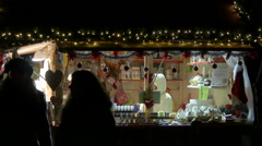"""Stall at the """"Aufsteirern"""" Christmas Market on the Castle hill, Graz Stock Footage"""