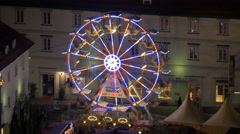 High angle of a ferris wheel at the Wonderlend in Graz Stock Footage