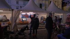 A train for children at the Wonderlend at Mariahilferplatz in Graz Stock Footage