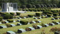 United National Memorial Cemetery in Busan, burial ground in South Korea Stock Footage