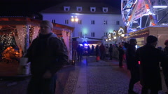 Relaxing and walking at the Wonderlend at Mariahilferplatz in Graz Stock Footage