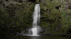 Pretty Llanrhaeadr Waterfall Filmed In Super Slow Motion Stock Footage