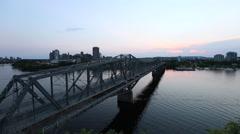 Alexandria Bridge over the Ottawa river Stock Footage