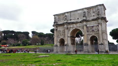 Arch of Constantine Rome Italy Stock Footage