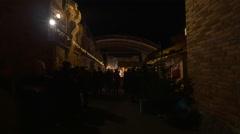 "Visiting the ""Aufsteirern"" Christmas Market in Graz Stock Footage"