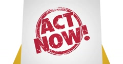 Special Offer Act Now Limited Time Envelope 4K - stock footage