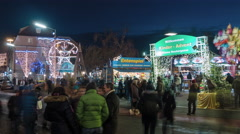 The Children's Advent fair in Kleine Neutorgasse, Graz, Time lapse Stock Footage
