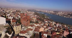 Aerial Footage of the Orthodox Patriarchate in Istanbul Stock Footage