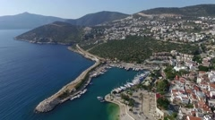 Areial view of Kalkan Turkey Stock Footage
