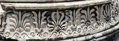 DetaiI of the base of column  at the Apollo temple Stock Photos