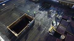 Aerial Footage of Workers Working on a Construction Stock Footage
