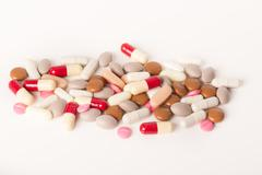 over medication medicine drugs pills abuse dependency - stock photo