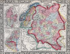 Antique map of Russia in Europe, Sweden, and Norway Kuvituskuvat