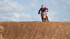 Motocross on tracks at Chang International circuit. Stock Footage