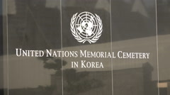 Entrance to the United Nations memorial cemetery in Busan, South Korea Stock Footage