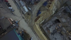Top View Aerial Shot of a Building Construction Stock Footage