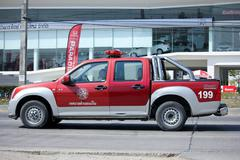 Fire truck of Maerim Subdistrict Administrative Organization. Stock Photos
