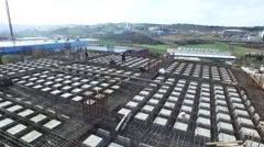 Close Aerial Shot of a Building Construction Stock Footage
