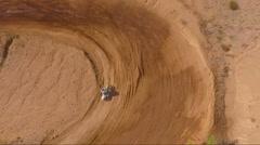 Dirt bike Motocross Aerial. - stock footage
