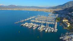 Fethiye Marina Aerial Stock Footage