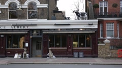 Prince Albert pub at Battersea Park: cow on the roof, London, England, Europe Stock Footage