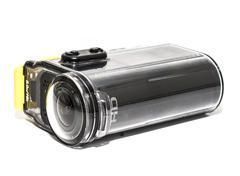 action camera, waterproof white background - stock photo