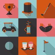 Set  icons  Golf. Piirros