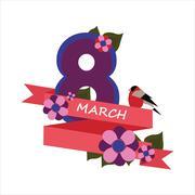congratulations on March 8 - stock illustration