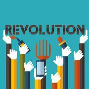 Revolution in  vector format Stock Illustration