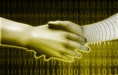 Embracing New Technology Stock Illustration