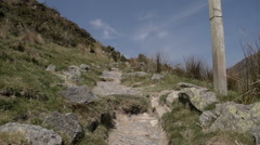 Hiking Up The Berwyn Range In Wales UK Stock Footage