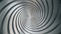 Shiny Metal Spiral Stock Footage