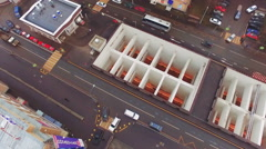 Aerial View of Moscow Highway Road With Traffic Stock Footage