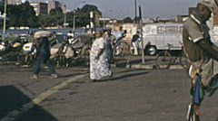 Durban, South Africa 1973: old man with a rickshaw - stock footage