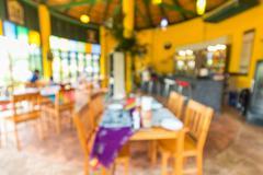 Defocus modern restaurant Stock Photos