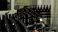 Bottles on the conveyor Stock Footage