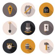 Flat icons funeral services Piirros