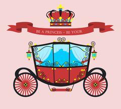 flat car Princess - stock illustration