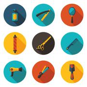 Flat icons beauty salon Stock Illustration