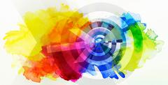 abstract target concept - stock illustration