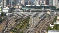 South Korea modern infrastructure, advanced economy, Seoul railway station Stock Footage