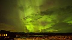 Aurora Borealis in Iceland Stock Footage