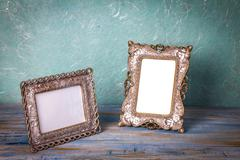 Vintage picture frame with white space Stock Photos